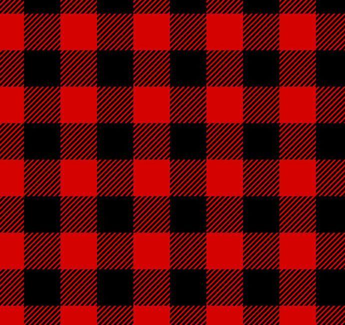 Lumberjack Plaid Red Black Flannel Fabric Lincoln James