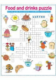 puzzle drinks worksheets drink worksheet vocabulary crossword esl english hygiene safety word activities eslprintables breakfast words activity sheets related teaching