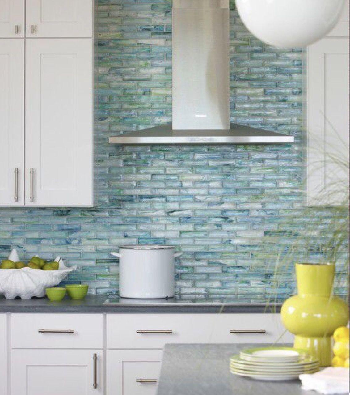 Real and green back splasplash | Condo Renovation Ideas | Pinterest ...