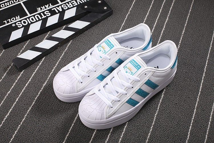 Chaussure adidas superstar rize s77609 femme fulmine bianco