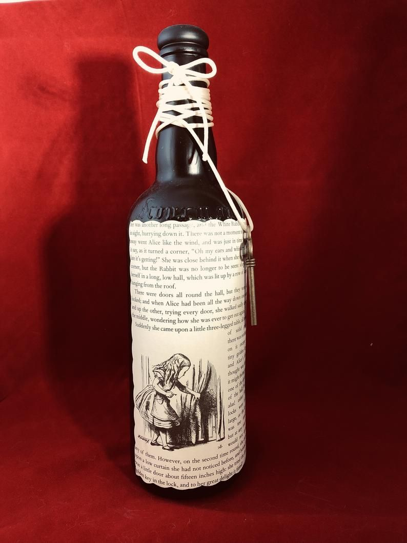 Book Page Wine Bottle Decor Bottles Decoration Wine Bottle Decor Bottle