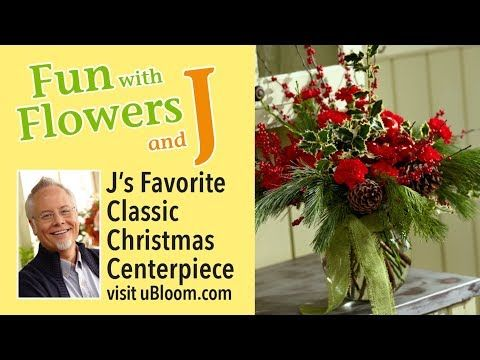 A Christmas Arrangement.591 How To Make A Christmas Arrangement With Red Carnations