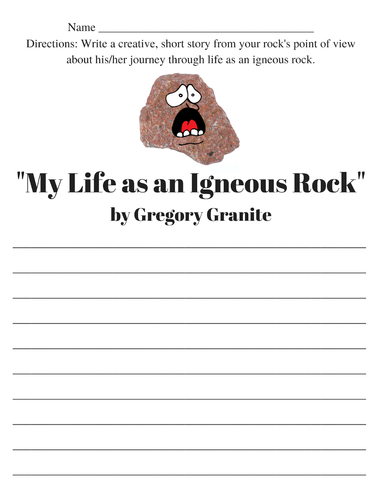 worksheet Igneous Rocks Worksheet spark and all geology igneous rocks granite narrative our fifth lesson with co op was about rocks