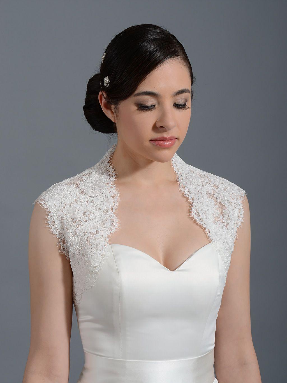 Wedding dress lace bolero jacket