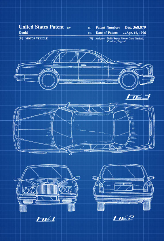 Rolls Royce Patent – Patent Print, Wall Decor, Automobile Decor, Automobile Art, Classic Car,  Bentley Arnage, Rolls-Royce Silver Seraph,
