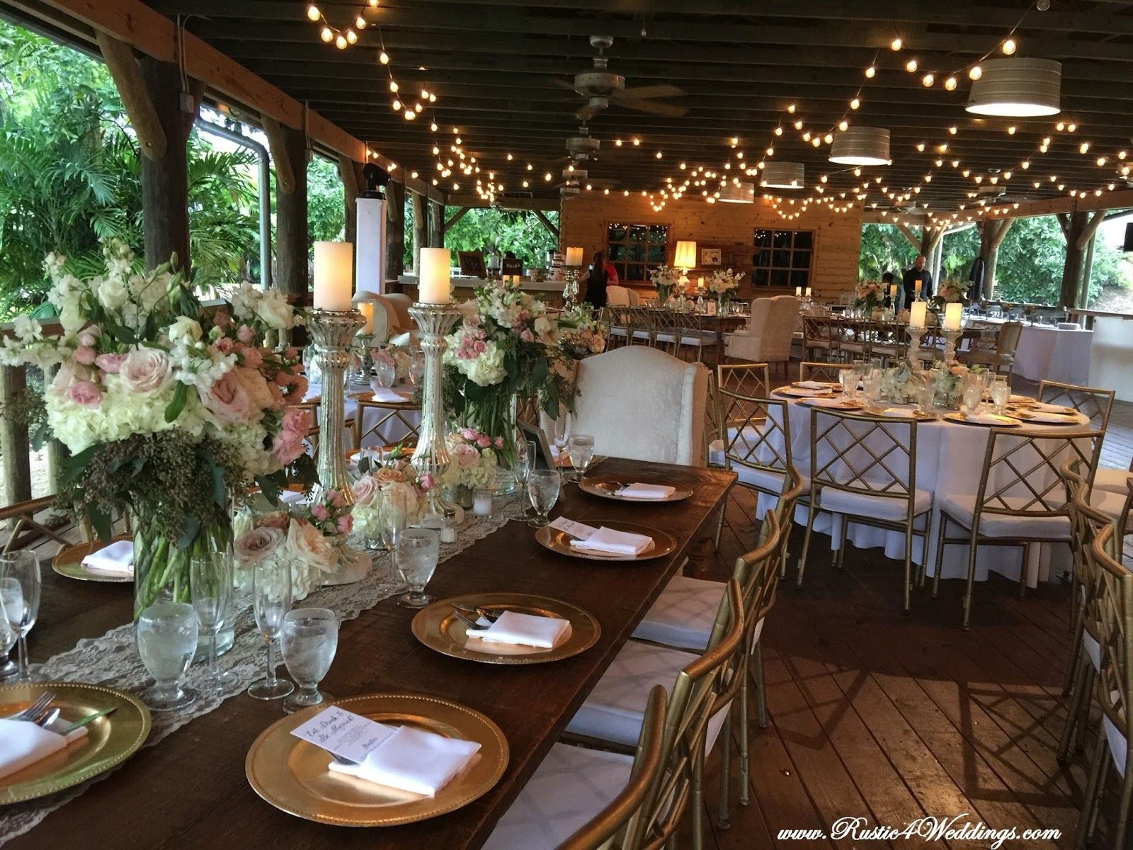 Rustic Beach Theme Wedding Featuring Our Tree
