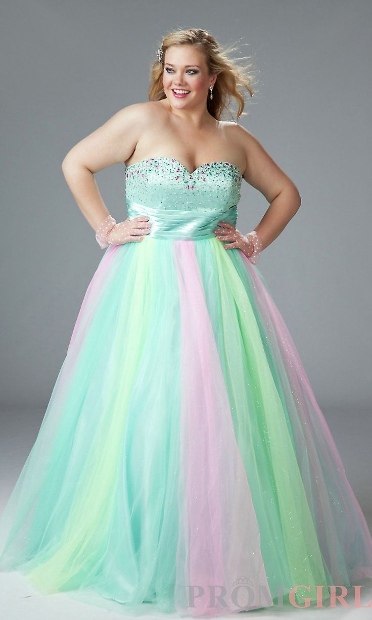 Plus Size Second Wedding Dresses Strapless Rainbow Ballgown♥: Plus Size Second Wedding Dresses Turquoise At Reisefeber.org