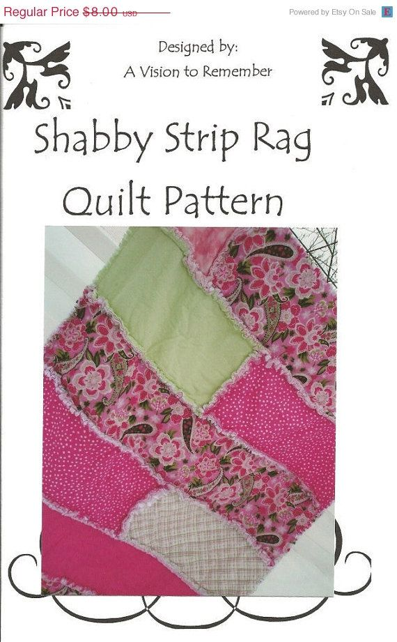 Pattern Rag Quilt Shabby Strip Mailed Quilting Pinterest
