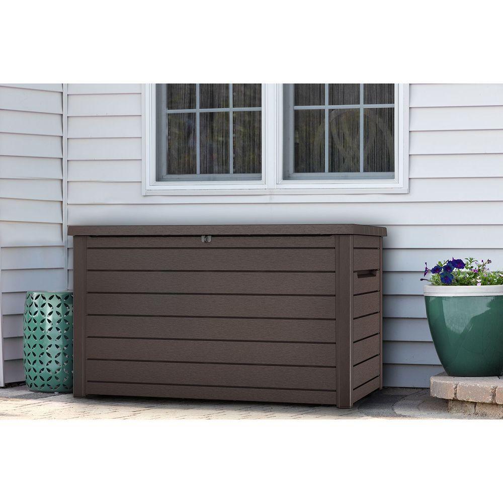 Keter Xxl 230 Gallon Plastic Patio Deck Shed Storage Container Garden Supplies Deck Box