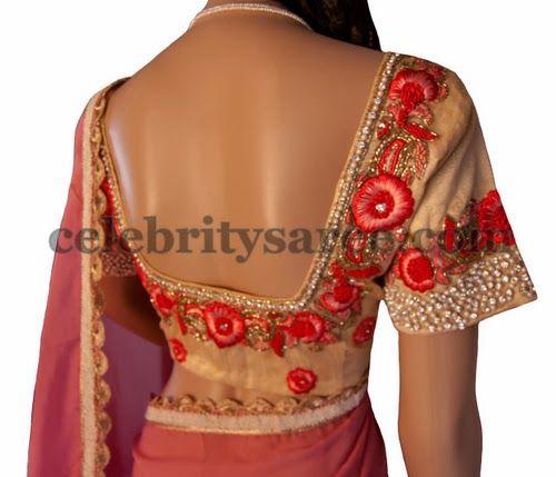 Rose Flowers Saree Blouse Designs Saree Blouse Designs Blouse Designs Designer Saree Blouse Patterns