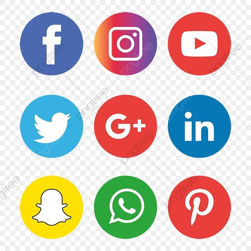 Conjunto De Iconos De Redes Sociales Logo Clipart De Logo Iconos Sociales Logo Icons Png Y Vector Para Descargar Gratis Pngtree Social Media Icons Social Media Icons Free Media Icon