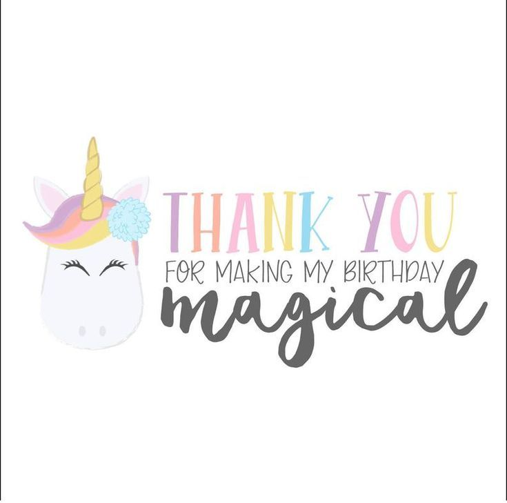 rainbow pastel unicorn thank you cards set of 12 in 2020