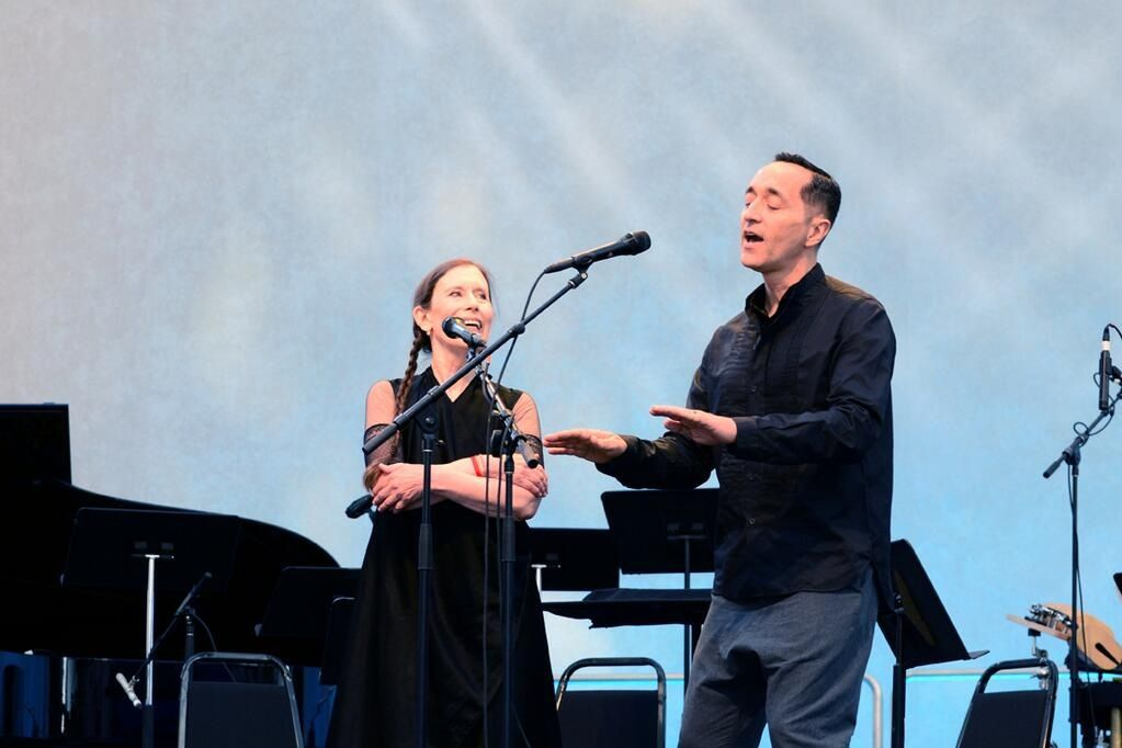 Meredith Monk and Theo Bleckmann at the Bang on a Can Marathon 2014