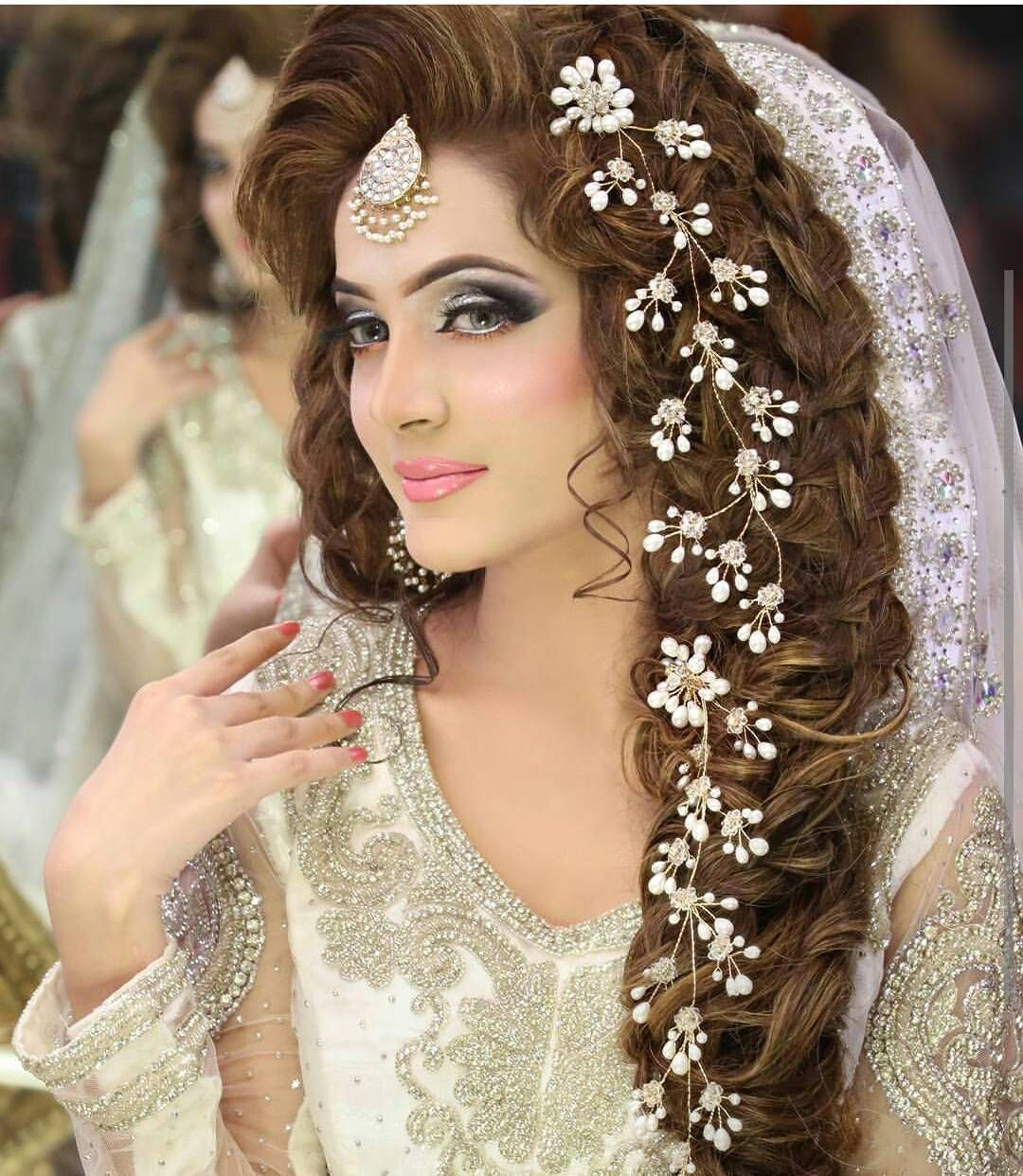 Image result for hair styles for bridal   Pakistani bridal hairstyles ...