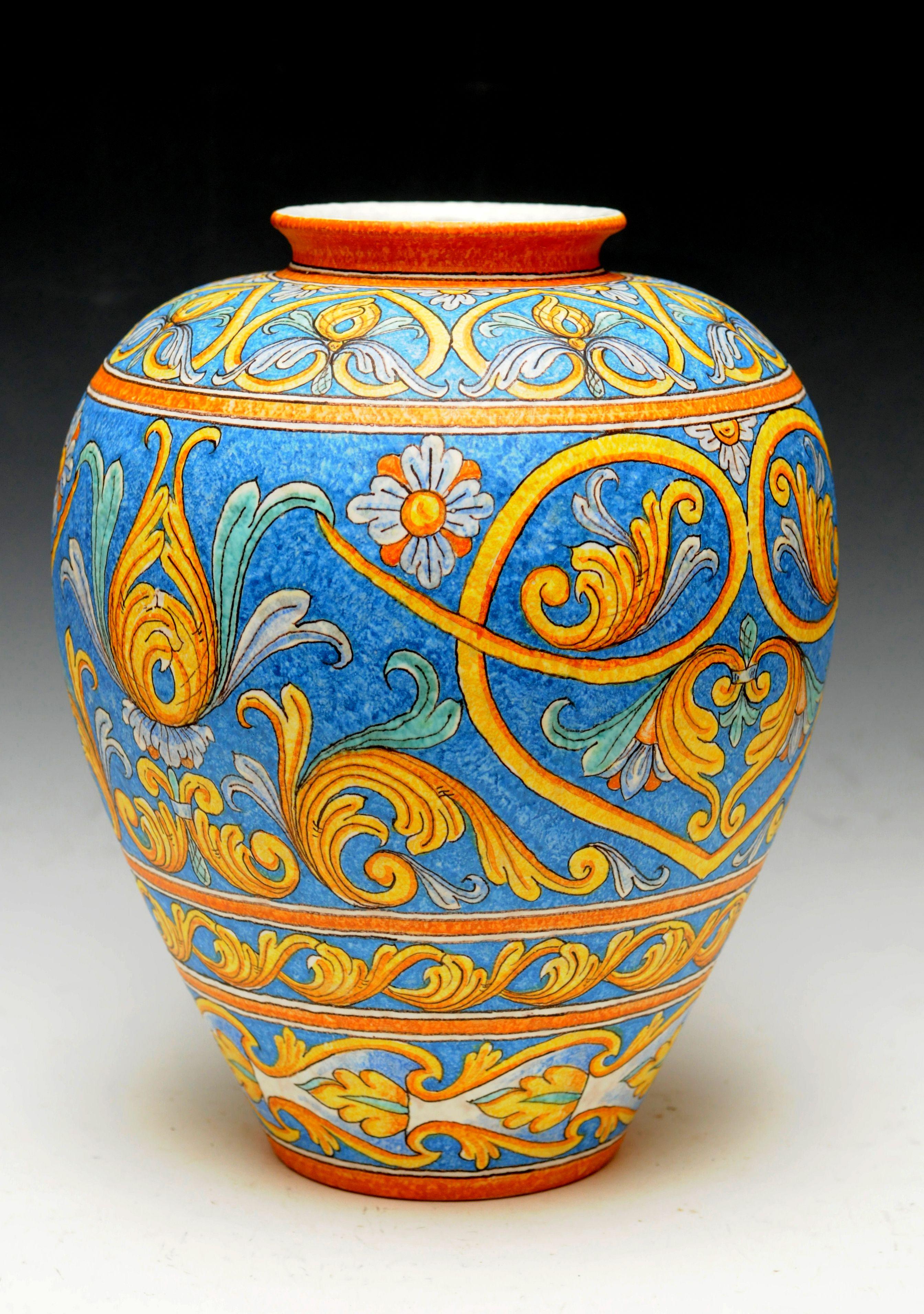 Italian Ceramics Handmade Vaso Cm 35 Con Superficie A Buccia D Arancia Arte Della Ceramica Ceramica Dipinta A Mano Ceramica