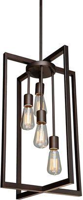 """Photo of Artcraft AC10414 Gastown Modern Oil Grated Bronze 15 """"Foyer Light – ART-AC10414"""