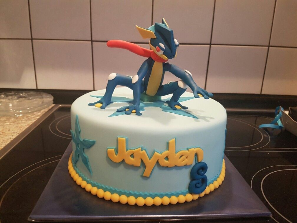 Greninja Pokemon Cake Birthday Party Ideas Pinterest Cake