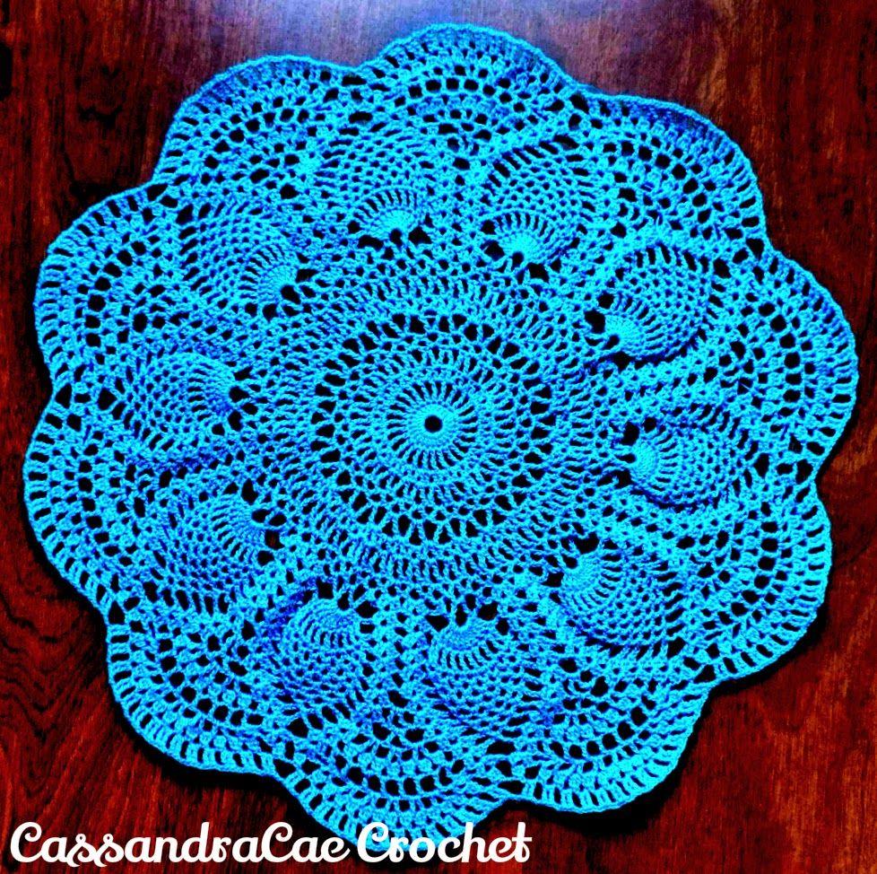 Free Crochet Pattern Pink Pineapple Doily 1951 Star Book No. 87 ...