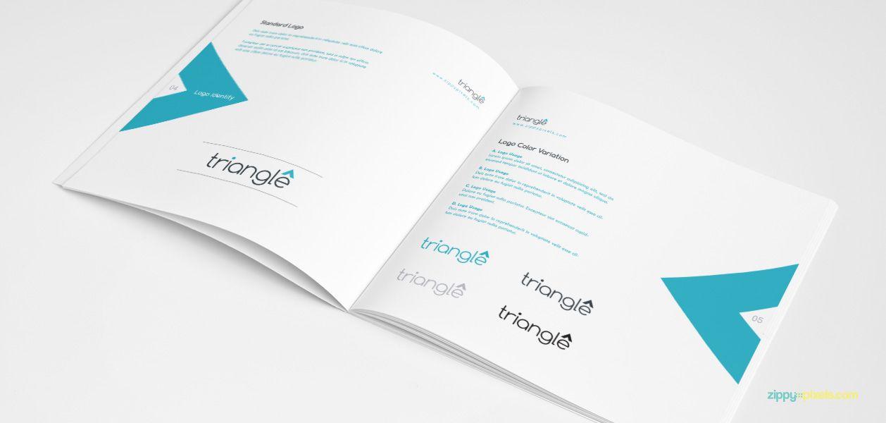 clean brand guidelines manual template brandbook brand. Black Bedroom Furniture Sets. Home Design Ideas