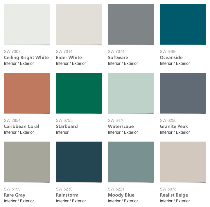 West Elm Paint Palette 2016 By Sherwin Williams