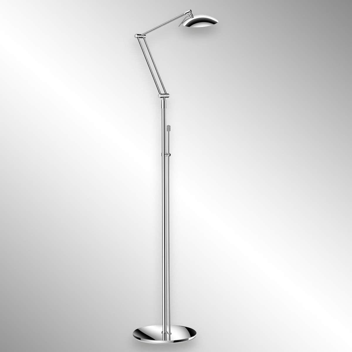 Designer Stehlampe Curl Von Knapstein Silber Led Stehleuchte Led Und Led Technik