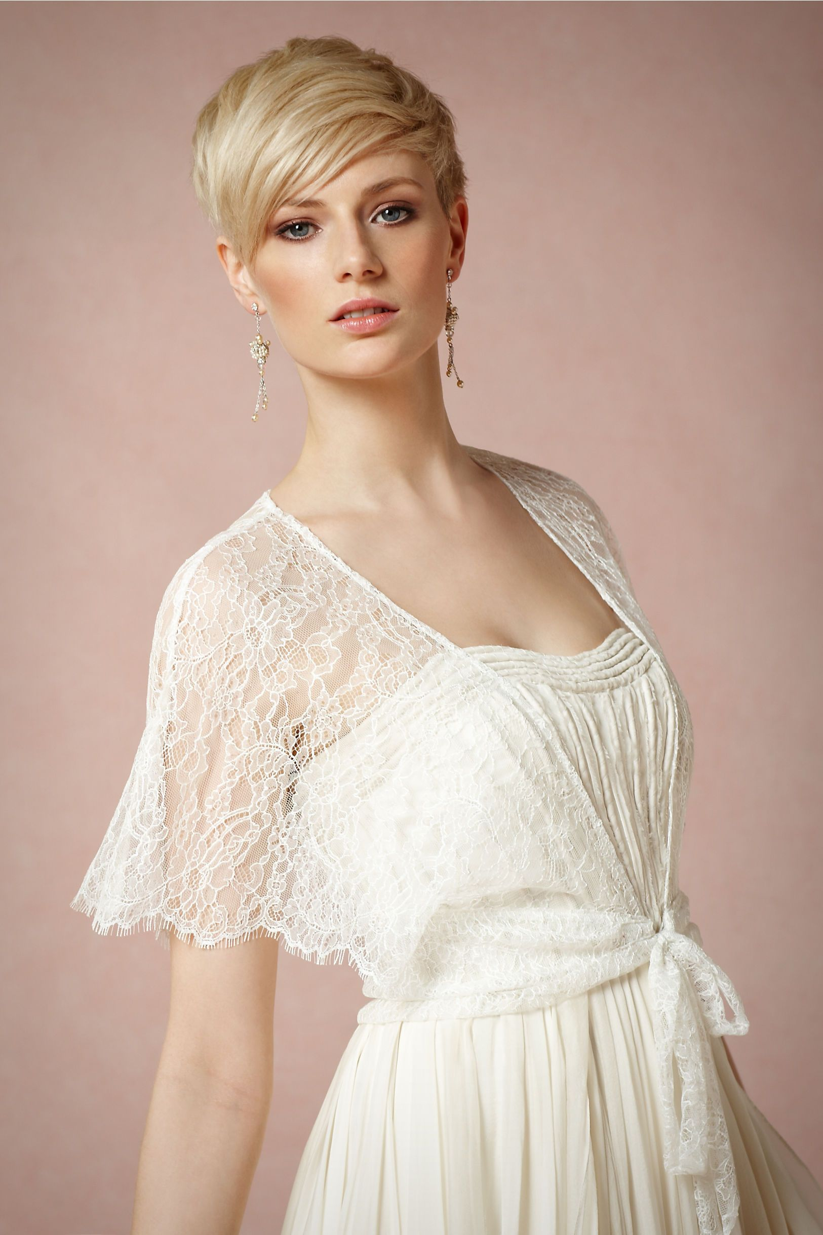 Lace aura wrap in bride bridal cover ups at bhldn enderwedding