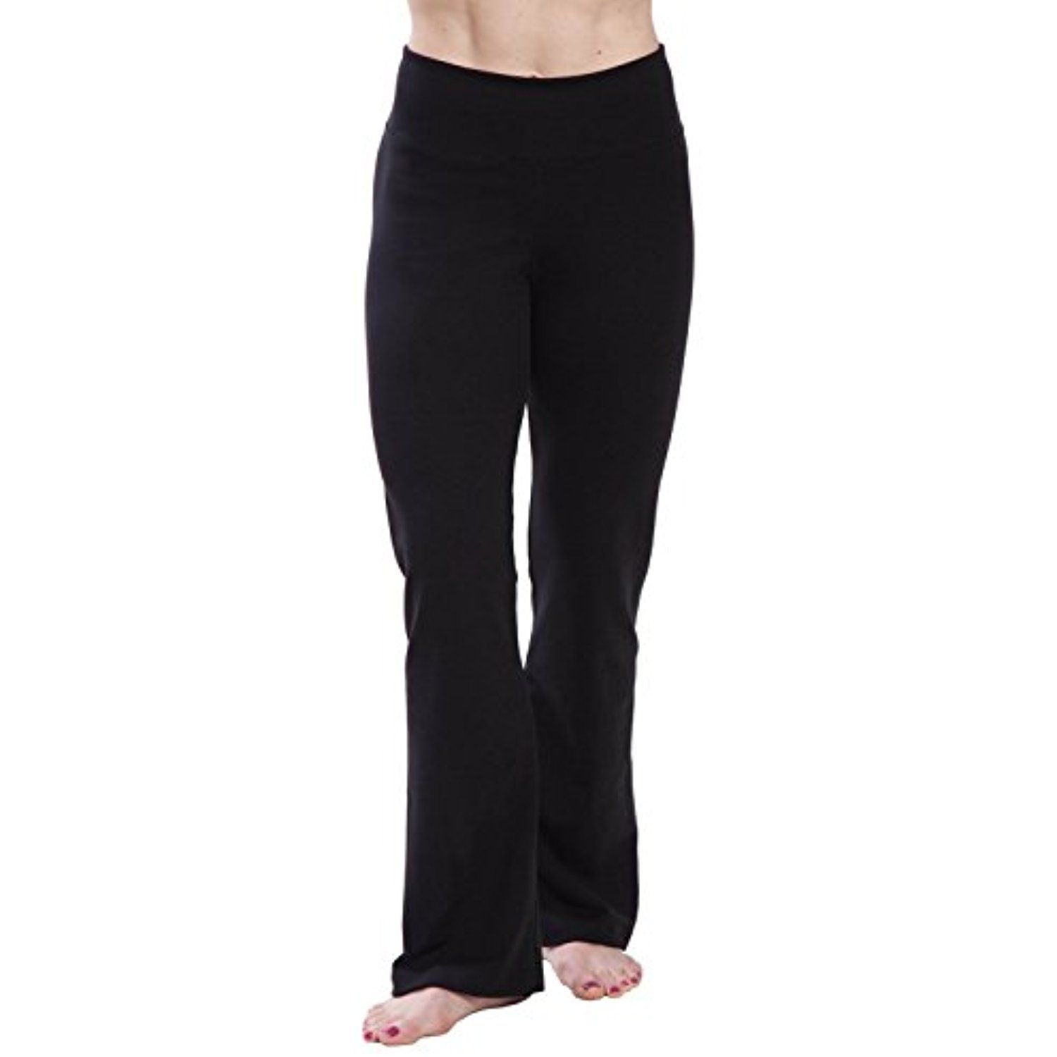 8e7af98829 American Fitness Couture Womens Opaque Tummy Slimming Fold-Over High Waist  Bootleg Yoga Pant *** Visit the image link more details.