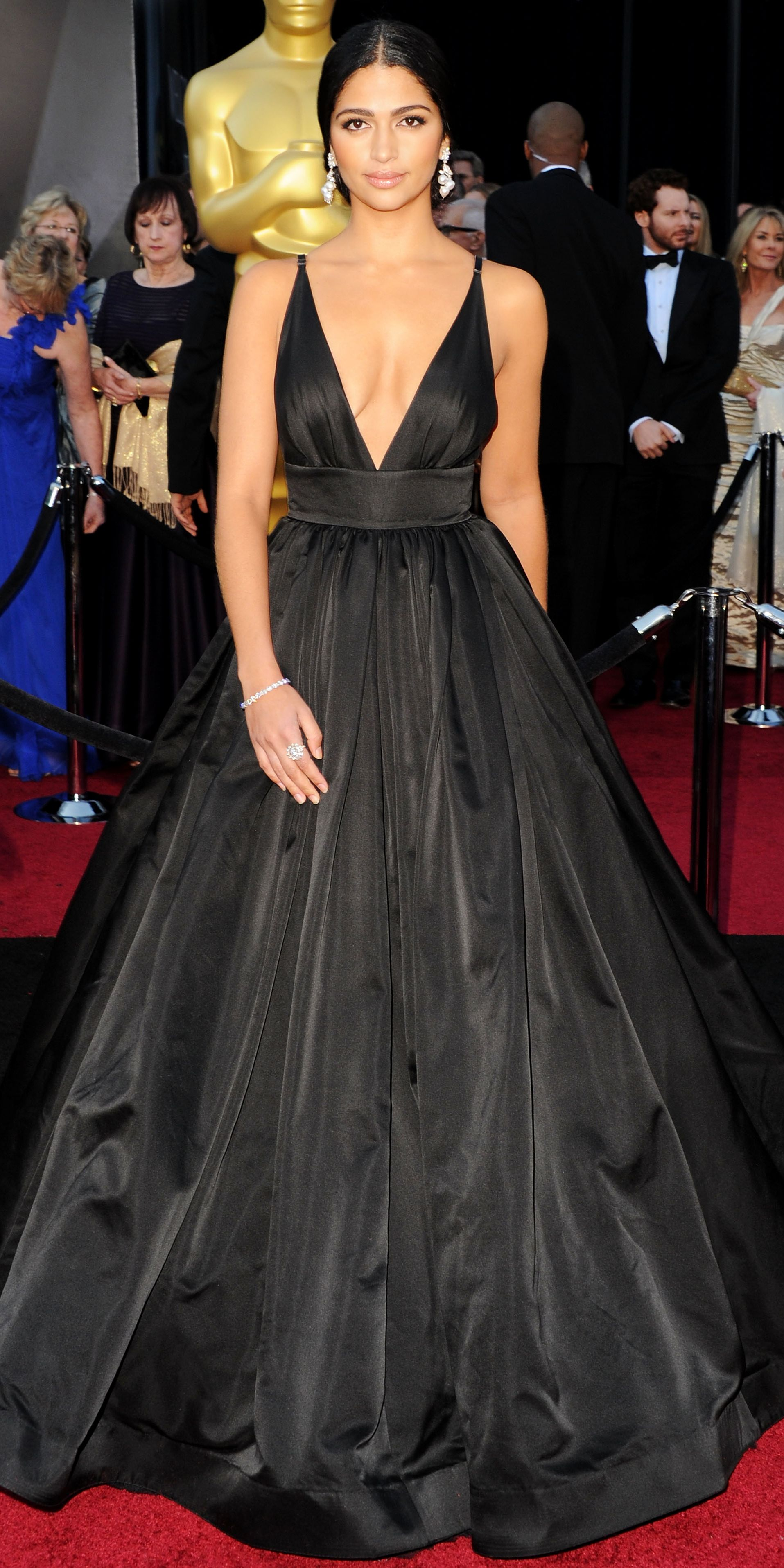 2ac2dad6c3bd The Best Black Gowns on the Red Carpet Ever - Camila Alves in Kaufmanfranco  from InStyle.com