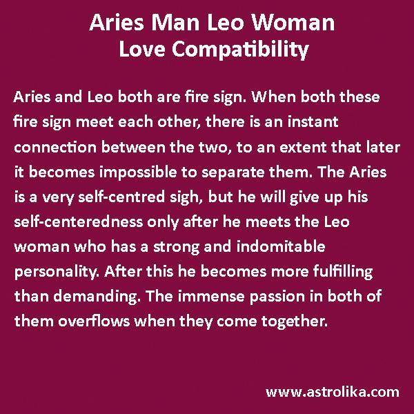 aries Mann aus einer Leo-Frau Mehr als ein Jahr keine Verpflichtung