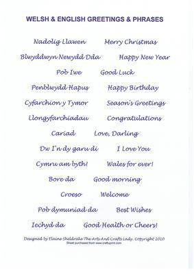 Welsh english greetings phrases blue birthday christmas welsh welsh english greetings phrases blue birthday christmas on craftsuprint add to basket m4hsunfo