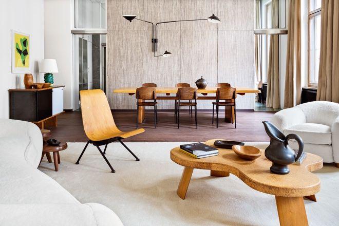 Modern rustic design simple lines horizontal wood plank walls