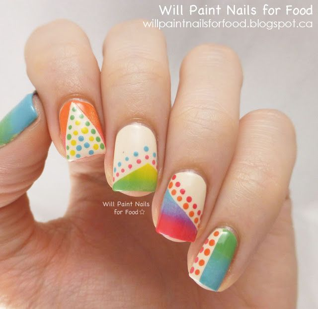 Uñas mixtas | Hair,nails | Pinterest | Uña decoradas, Diseños de ...