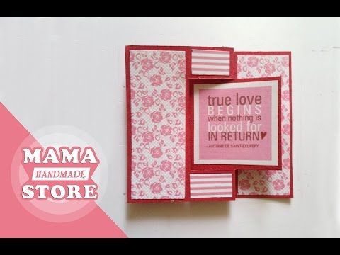 DIY Napkin Fold Card for scrapbook/Tutorial for Scrapbook