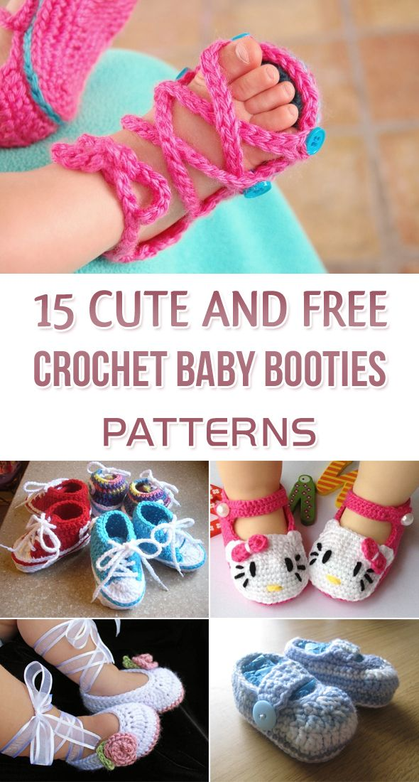 Roundup of 15 cute and free crochet baby booties patterns for you to ...