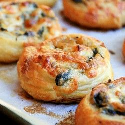 Spinach and Cheese Puff Pastries
