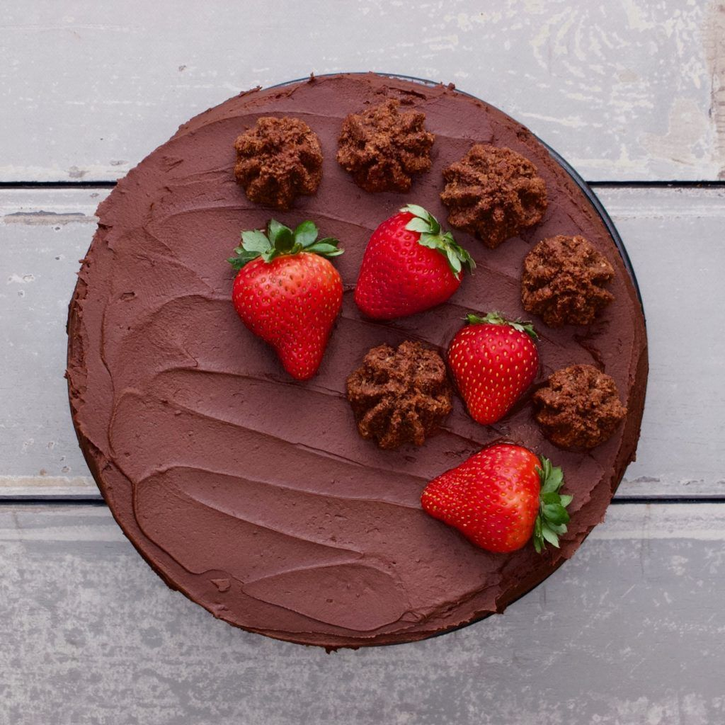 Macaroon Triple-Layer Chocolate Cake (for Passover