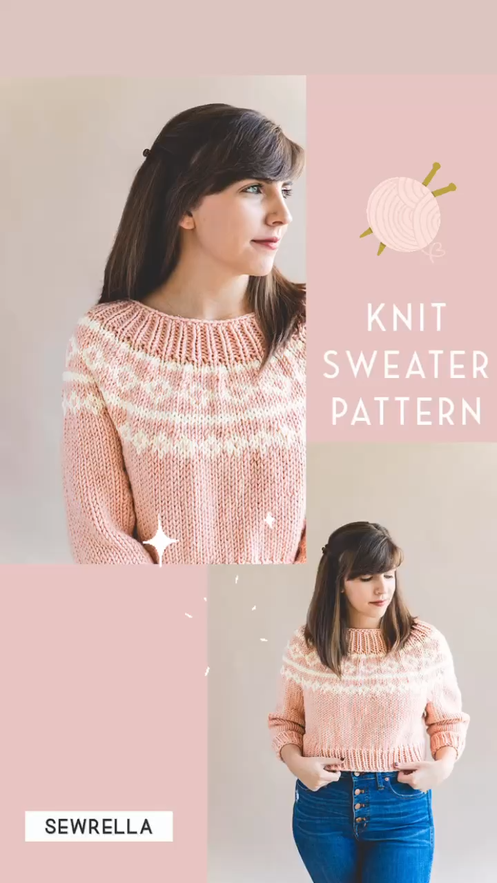 Photo of Cropped Knit Sweater – free pattern