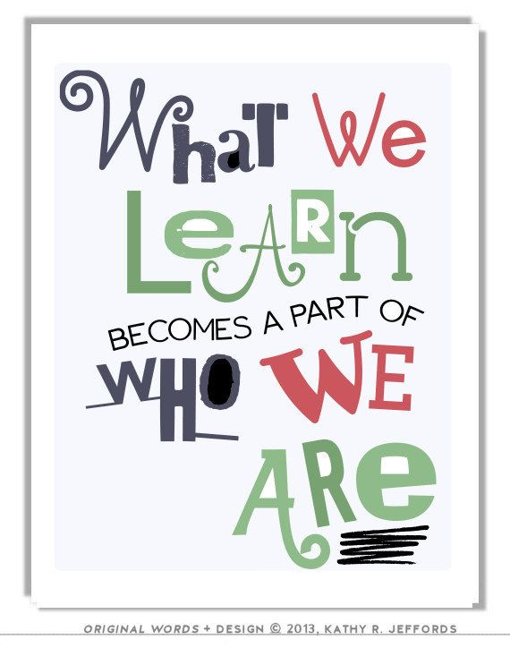 What We Learn Typographic Print Education By Thedreamygiraffe