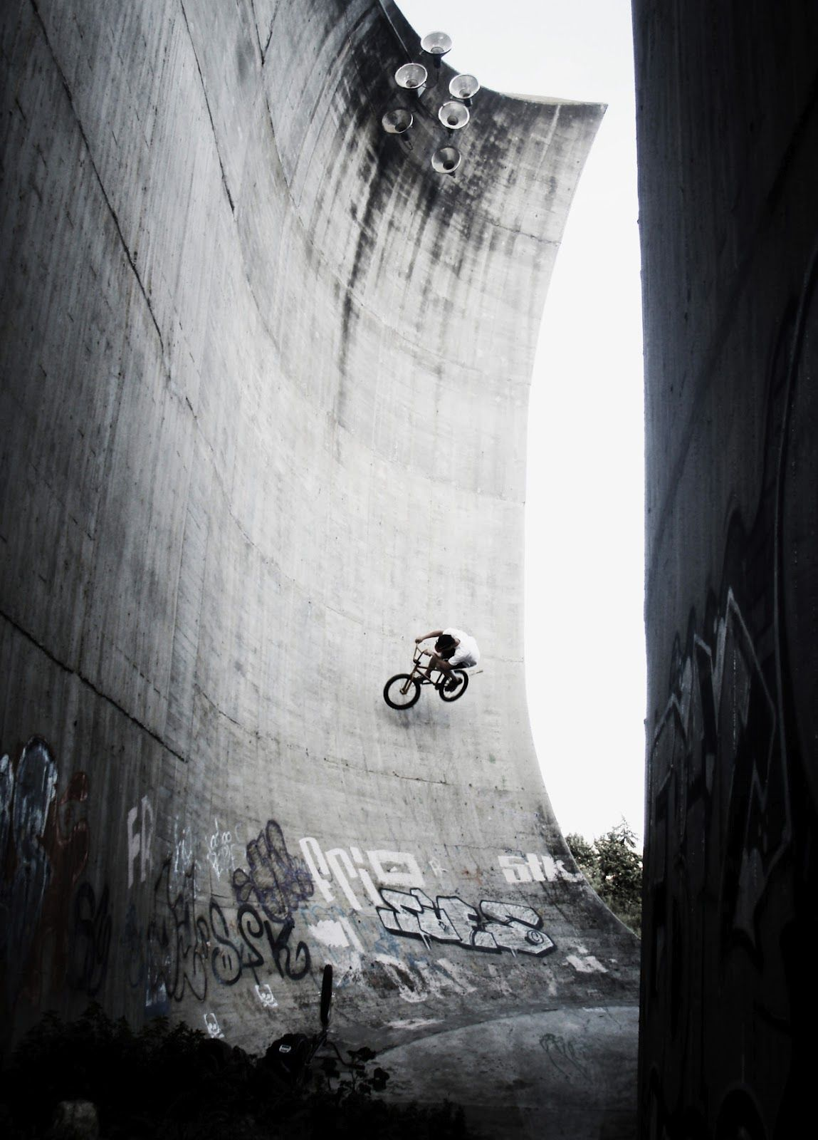 We enjoy all kinds of biking, as well as rad bike photography. This shot is freaking cool!