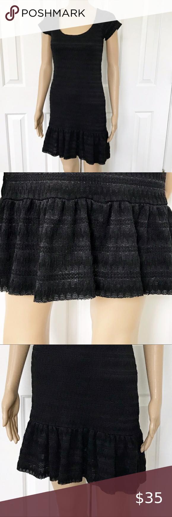 Free people short sleeve loose fit mini dress S