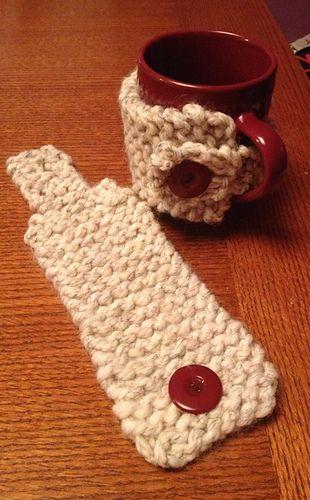Super Bulky Garter Stitch Coffee Cozy free pattern ...