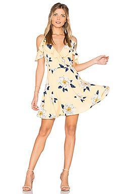 Flower Print Cold Shoulder Flare Dress Flare Dress
