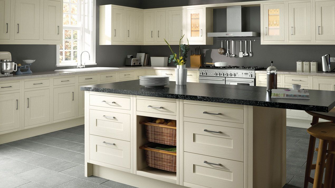 Attractive Traditional Kitchen In Ivory. A Traditional, In Frame Kitchen Shown In Ivory  And