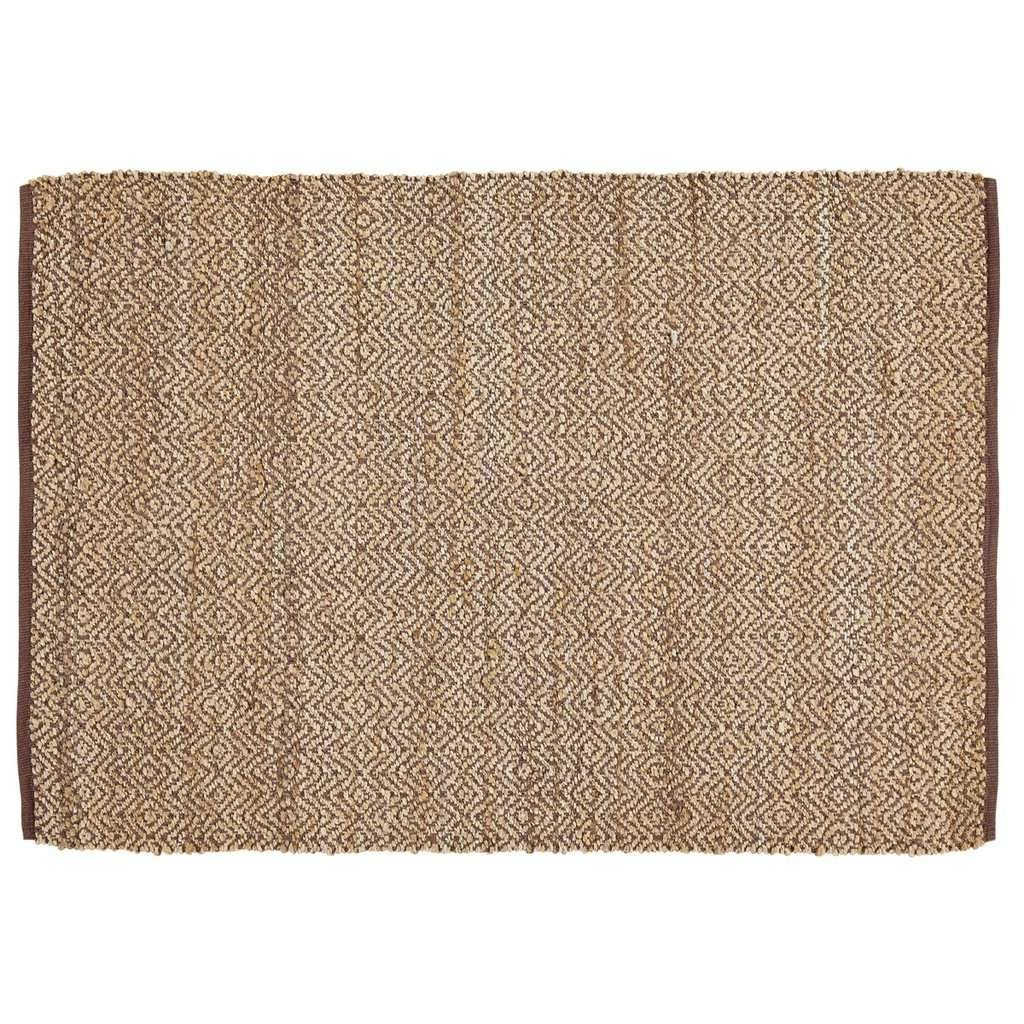 Zuma Brown Rectangle Rug 4x6'  Measures 4x6' Made from natural jute and cotton Colors: brown and natural Spot clean or dry clean only  Create a stylish look in you entryway that will bring compliment