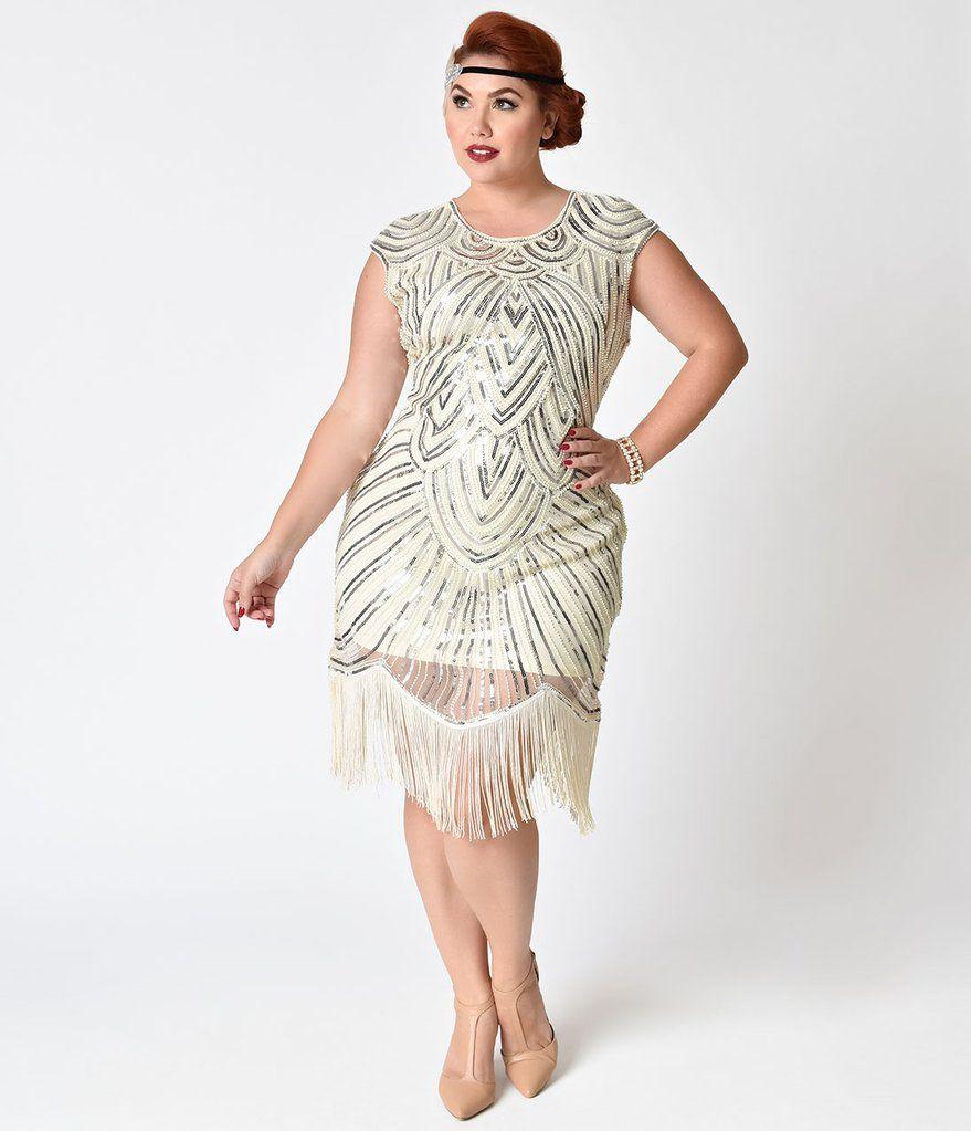 Pin By Gem Junkie Jewels On Fashion Plus Size Flapper Dress Plus Size Wedding Guest Dresses Wedding Dresses Unique [ 1023 x 879 Pixel ]