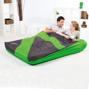 matelas sac de couchage int gr 2 personnes bestway vert. Black Bedroom Furniture Sets. Home Design Ideas