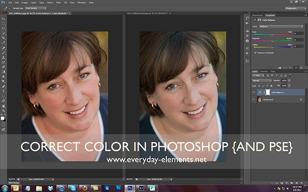Correcting color in Photoshop CS6 {Everyday Elements} by Amanda.