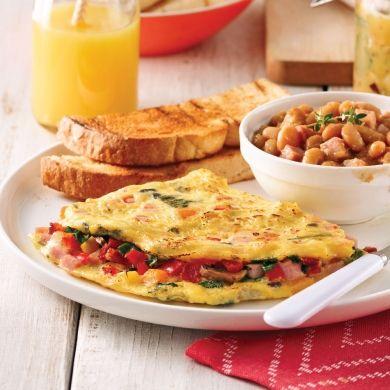 Omelette gourmande - Recettes - Cuisine et nutrition - Pratico Pratiques