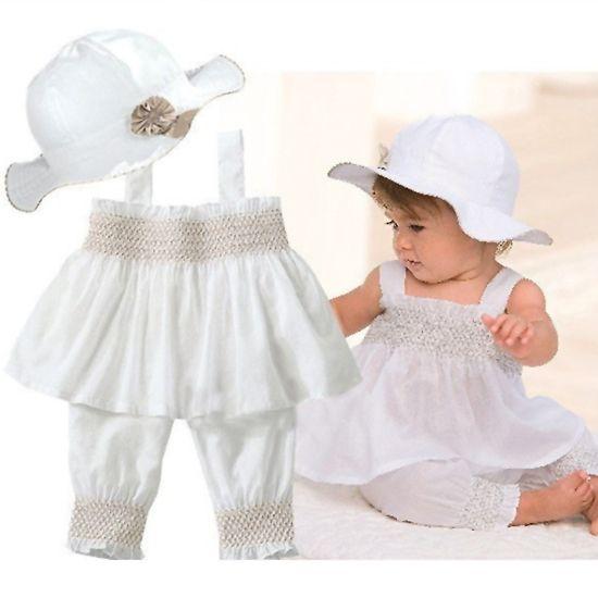 2014 New Summer Newborn Boy Baby Kids Infant Toddler Sport Suit Sleeveless Top Vest + Pants + Hat 3 pcs Set 0-24M