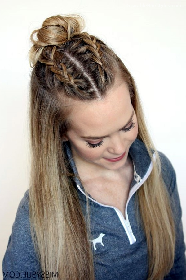 65 Quick and Easy Back to School Hairstyles for 2017 (With images) | Long hair dos, Straight ...